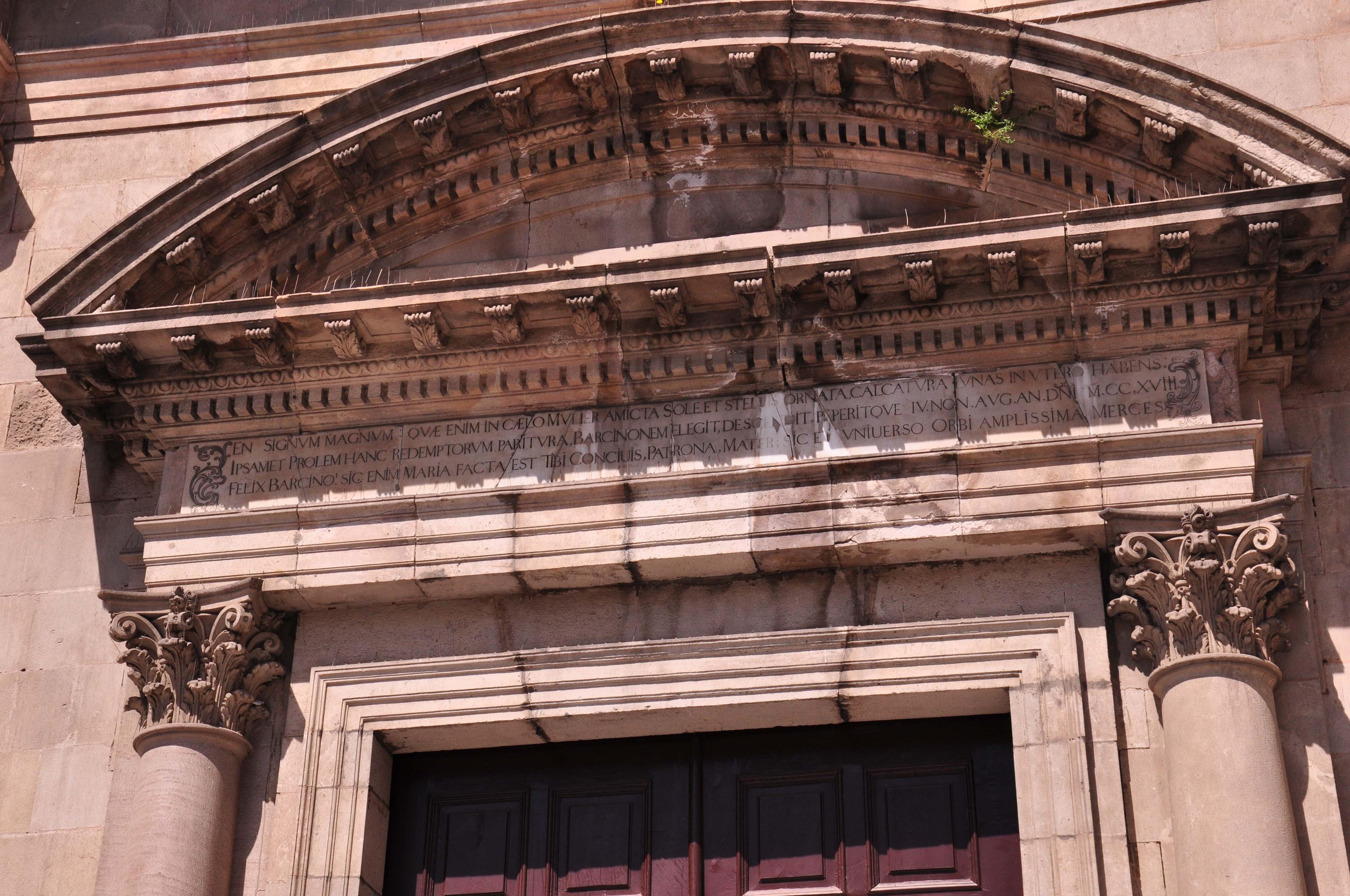 Basilica of La Mercè Barcelona doorway
