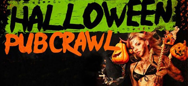 monday and tuesday the 30th and 31st of october the barcelona halloween pub crawl includes