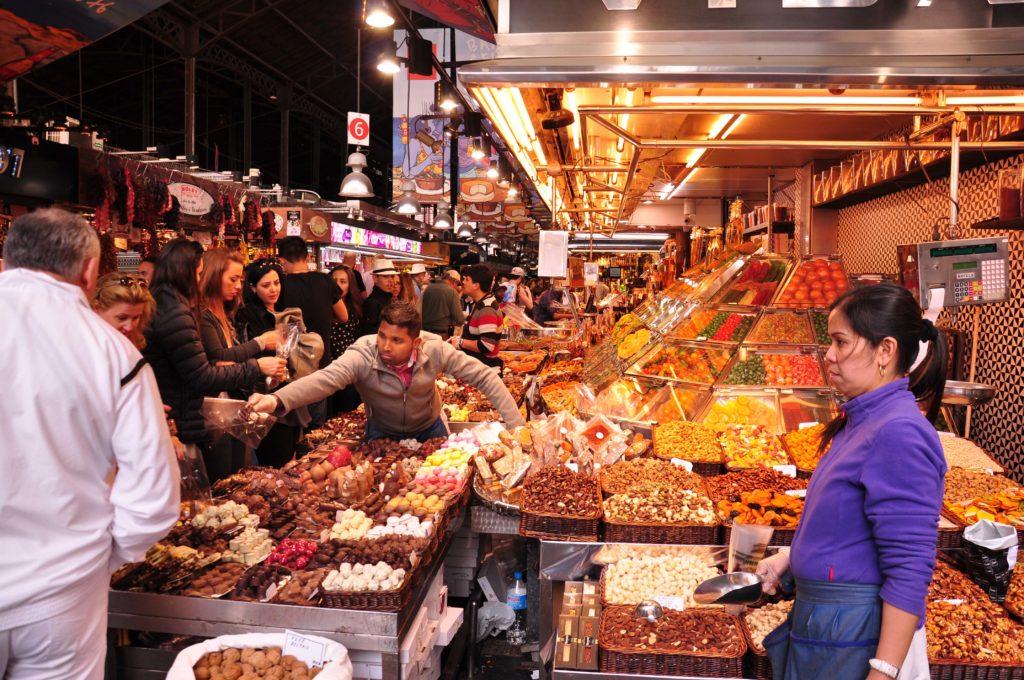 Rambla de las Flores Mercat de la Boqueria Barcelona 2