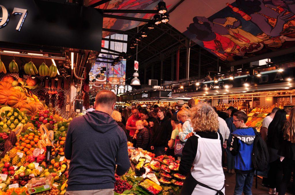 Rambla de las Flores Mercat de la Boqueria Barcelona 3