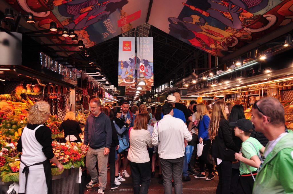 Rambla de las Flores Mercat de la Boqueria Barcelona 4