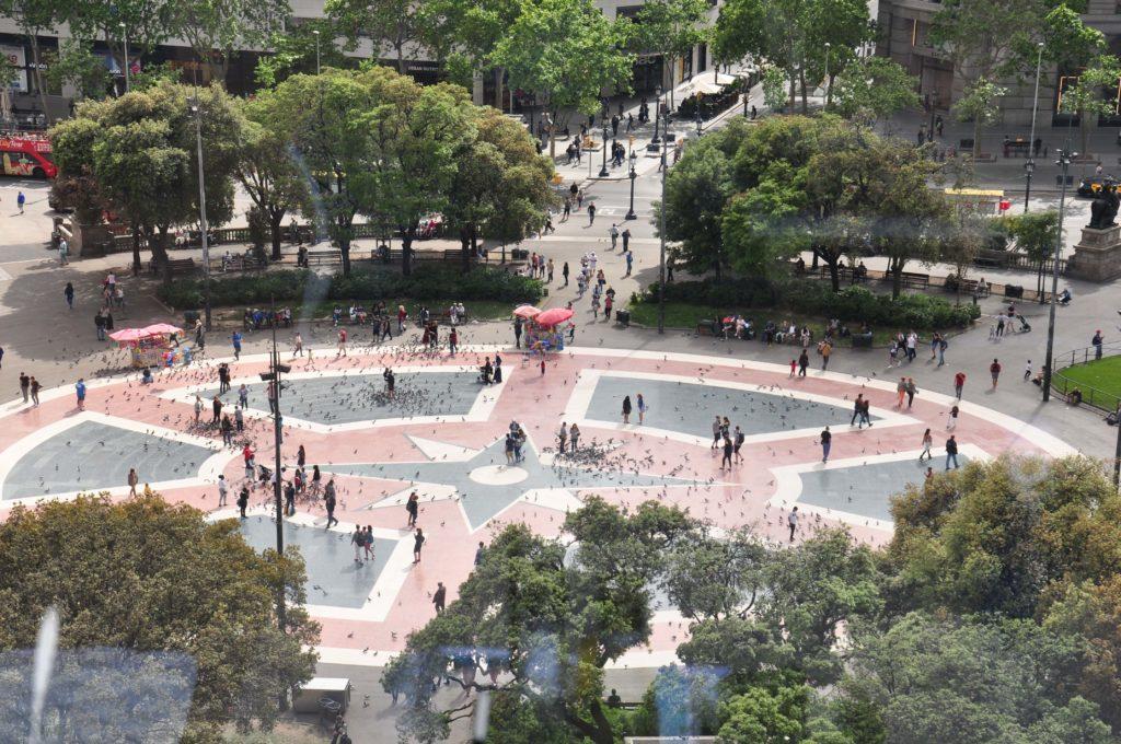 placa ramblas Placa Catalunya
