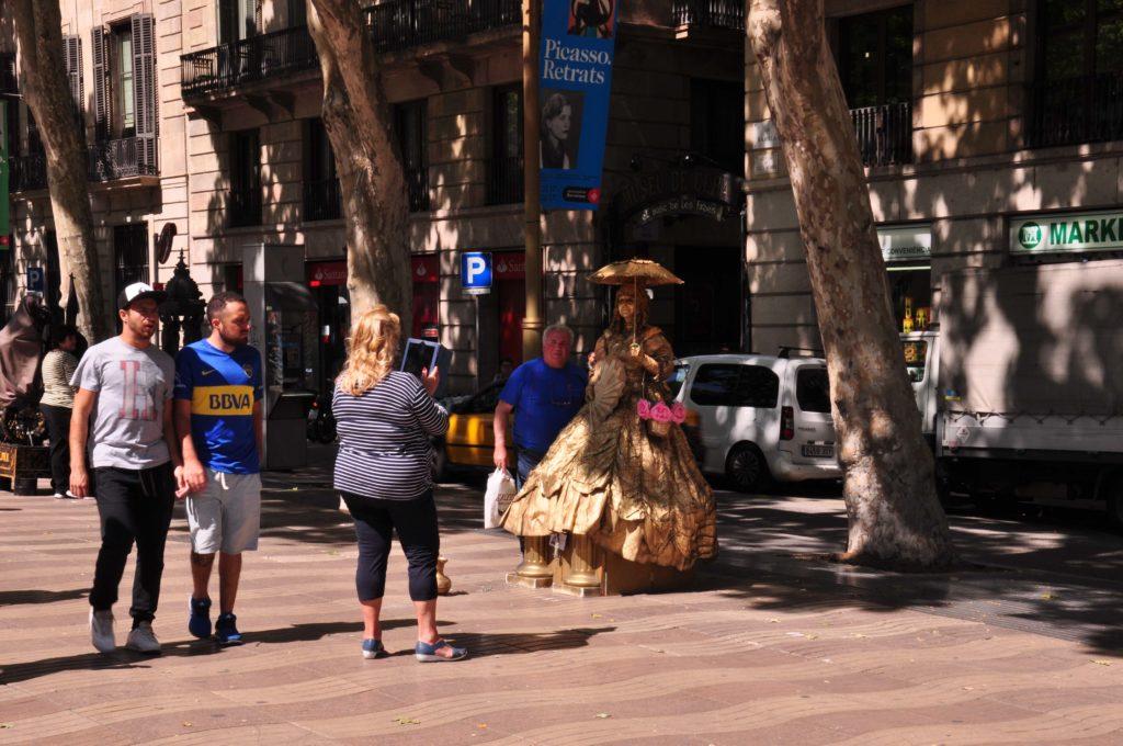street perforemer la rambla